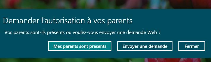 Seuls les parents peuvent débloquer l'accès à l'application