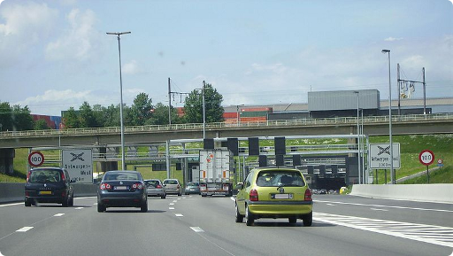 Une autoroute belge (image de Purka, tirée du site Wikimedia Commons)