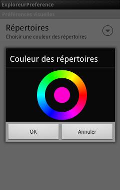 Il sera possible de modifier la couleur d'affichage des répertoires