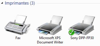 L'imprimante de Mario est maintenant accessible sur LUIGI-PC