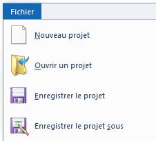 Enregistrer le projet