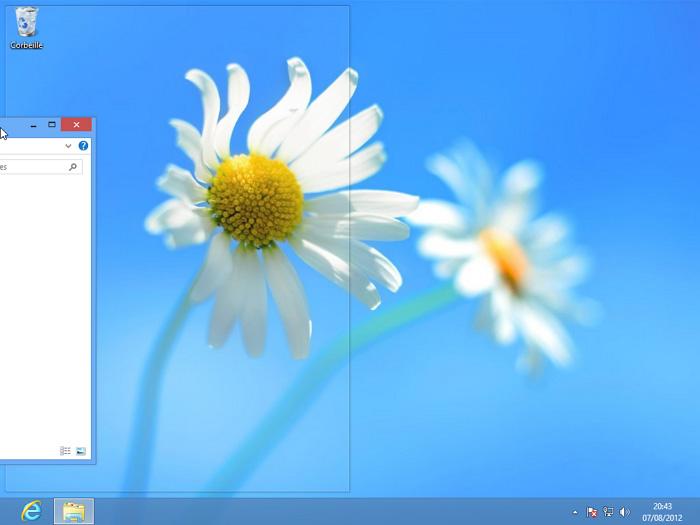 Positionnement d'une fenêtre dans la moitié gauche de l'écran