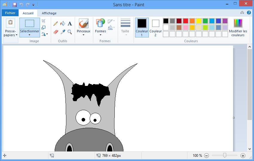 Paint, le logiciel de dessin. J'espère que vous aurez reconnu mon Zozor ! Non ? Ah bon.