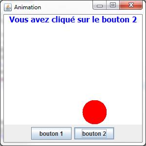 Utilisation de deux actions sur deux boutons
