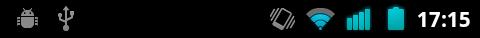 Ma barre de statut contient déjà deux notifications représentées par deux icônes à gauche