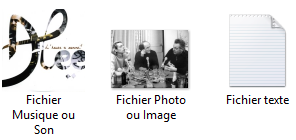 Divers fichiers et leur aperçu