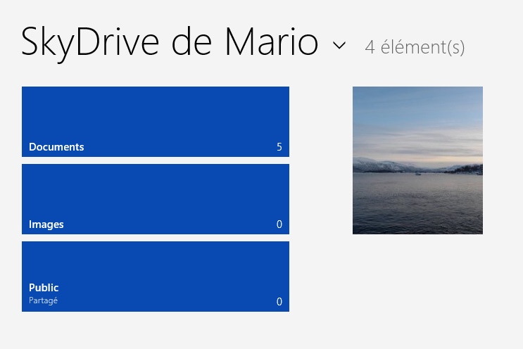 SkyDrive ouvert