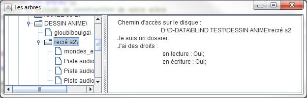 Afficher des informations sur les fichiers