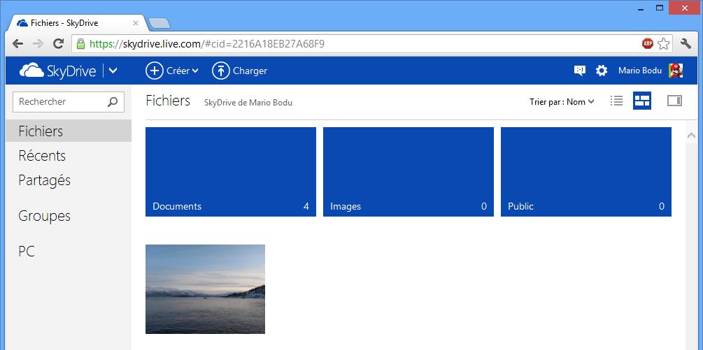 SkyDrive Web