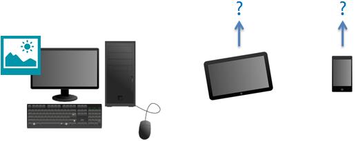 Si ma photo est sur mon ordinateur, comment puis-je y accéder depuis ma tablette ou mon téléphone ?