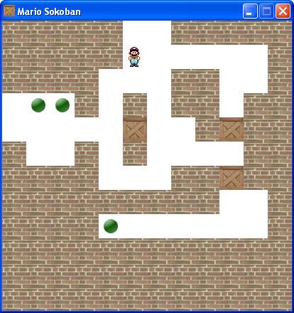 Le jeu Mario Sokoban que nous allons réaliser