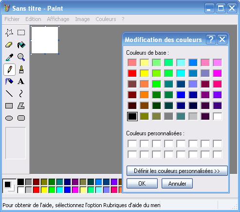 Le programme Paint