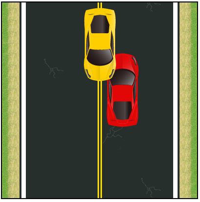 Une collision à gauche s'est produite