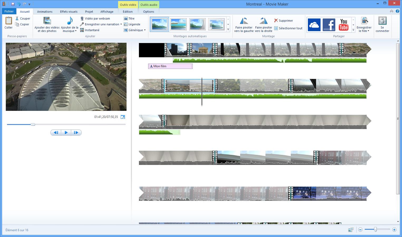 Les vid os et le montage vid o avec movie maker d butez - Couper video avec windows movie maker ...