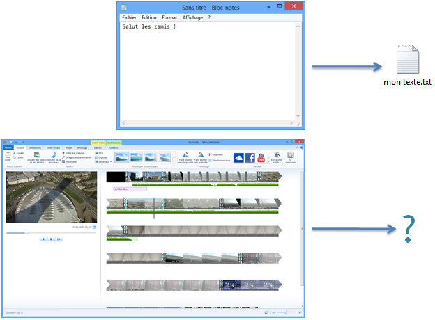 how to change file type windows movie maker