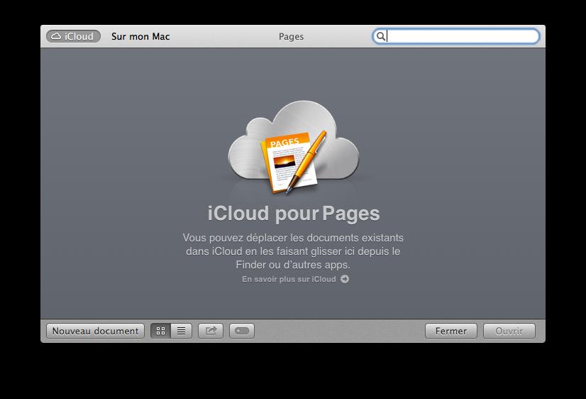 Créer un nouveau document dans Pages