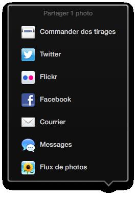 Listes des services de partage