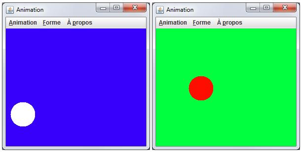 Changement de couleur via le menu contextuel