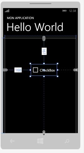 Ajout d'un contrôle CheckBox à partir du designer