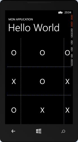 Affichage des lignes de la grille