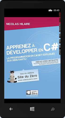 Image de la couverture du livre pour apprendre le C# dans l'émulateur