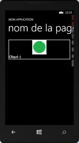Etat du bouton modifié lorsqu'il est cliqué