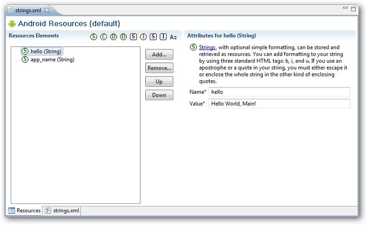 Fenêtre d'édition des données