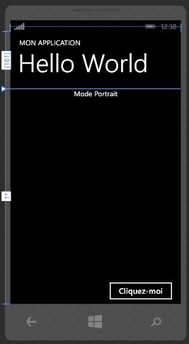 Page portrait dans Blend