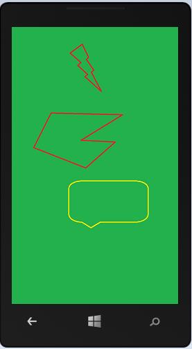 Affichage de l'écran d'accueil dans l'émulateur