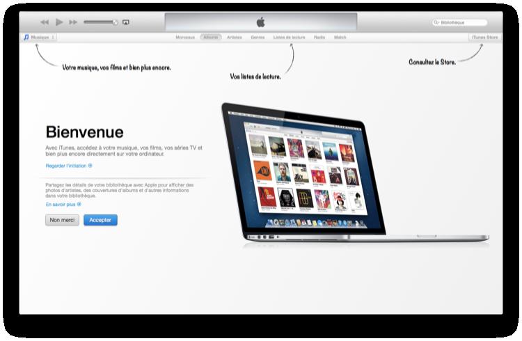 iTunes 11 : premier démarrage