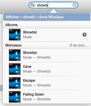 Recherche de l'album « Showbiz »