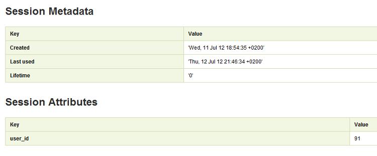 Ici, on constate que l'attribut user_id est bien défini, avec comme valeur 91