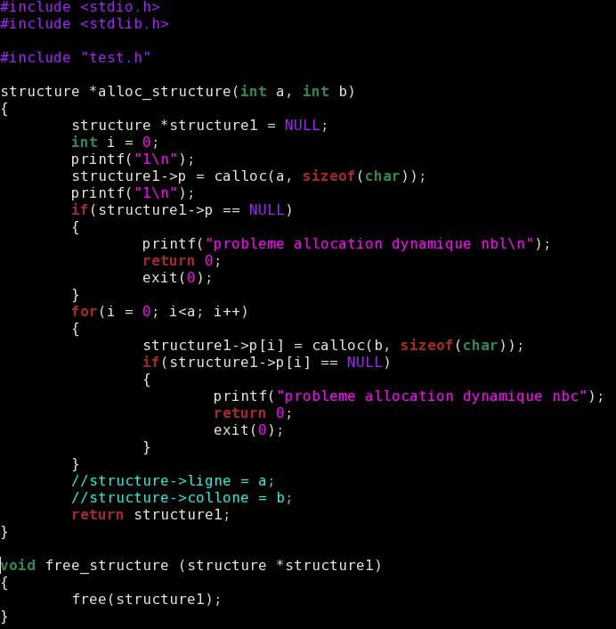 Resolu Allocation D Un Tableau 2d Dans 1 Structure Probleme De Segmentation Par Le E Openclassrooms