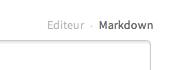 Sélection du mode Markdown sur le Site du Zéro
