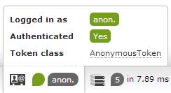 Je suis authentifié en tant qu'anonyme