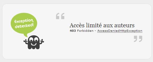 L'accès est interdit