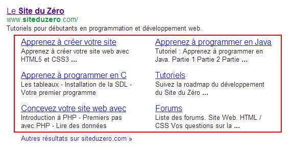 Liens de site du Site du Zéro