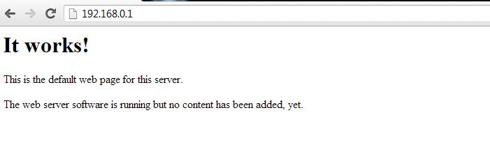 Page d'Apache par défaut