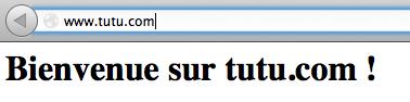 Vrai site www.tutu.com