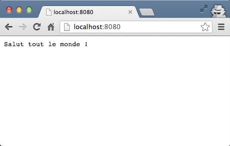 Notre premier programme Node.js s'affiche dans le navigateur !