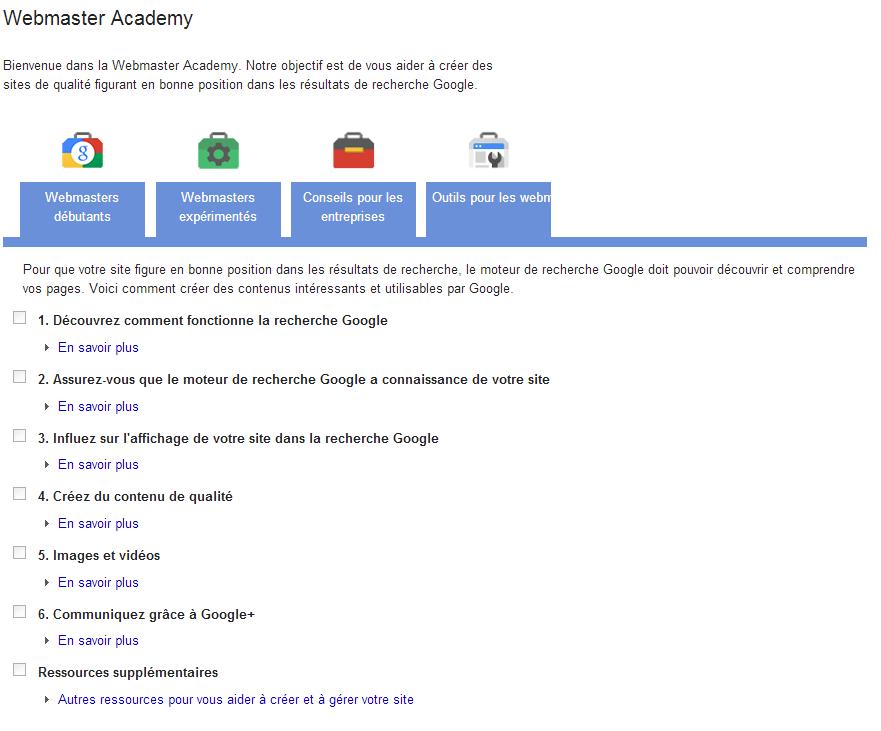 La Webmaster Academy de Google : un petit guide sur le référencement