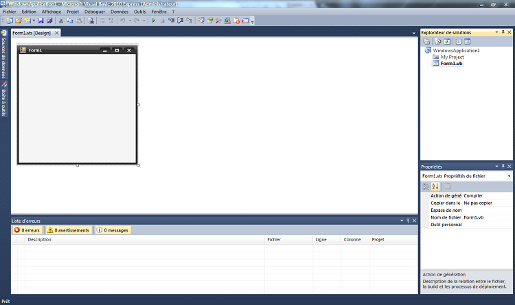 Projet « Application Windows Forms »