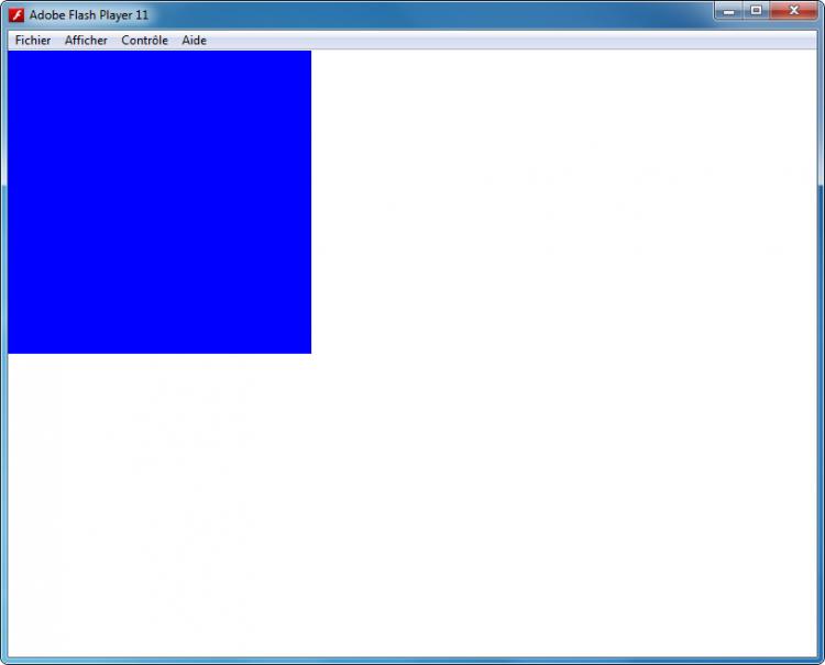 Un carré bleu