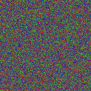 Pixels de trois couleurs