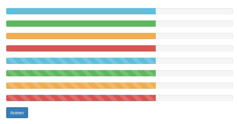 Des barres colorées