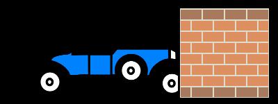 Collision entre les objets voiture et mur