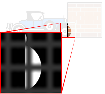 Résultat d'une multiplication entre les masques de deux images