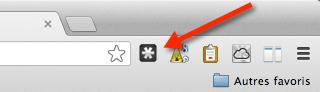 Cliquez sur l'icône grisée de Lastpass pour vous connecter
