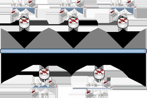Réseau composé de plusieurs sous-réseaux communaux