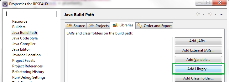Build Path